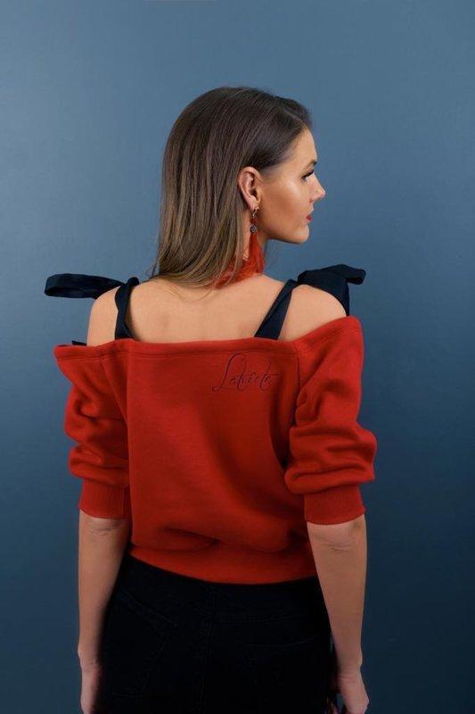 Džemperis Latviete ar sienamām lencēm sarkans