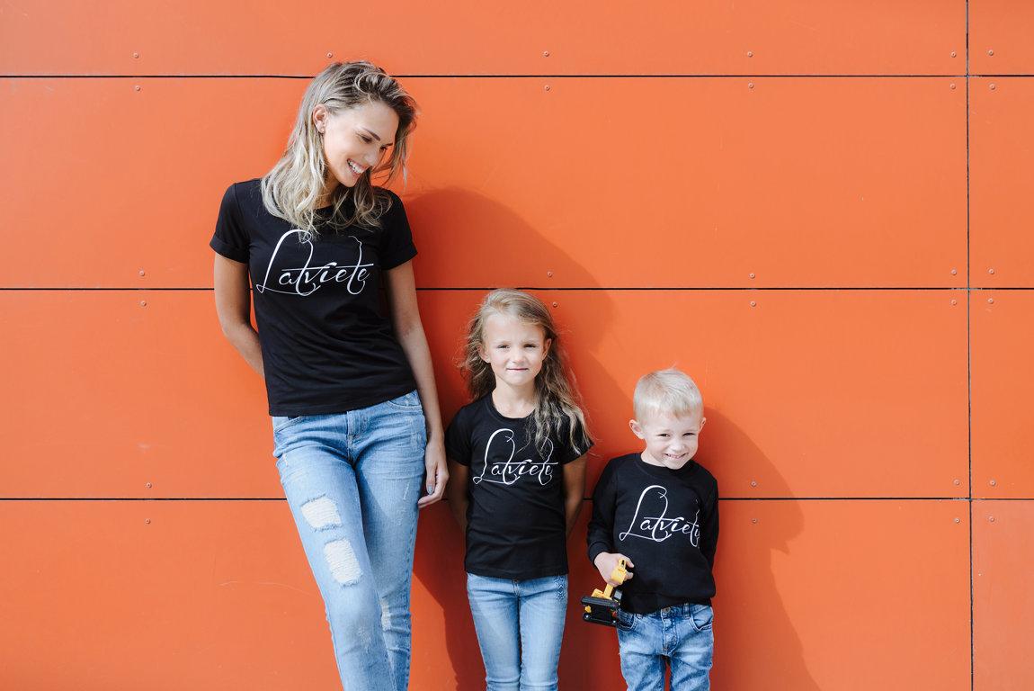 T-krekls Latviete/Latvietis bērnu