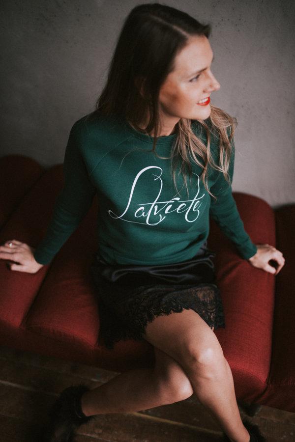 Džemperis Latviete zaļš