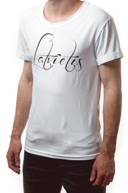 T-krekls Latvietis balts